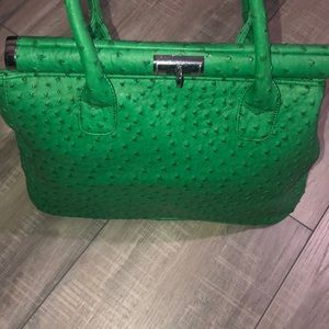 Croc faux leather handbag tote